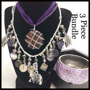 Jewelry - Purple & Silver Jewelry Bundle